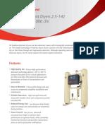 Heatless Desiccant Dryers 2.5-142 m3_min, 800-5,000 Cfm