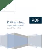 SAP Master Data - Prepared by Mubeen Subhedar