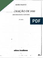 Revolução de 1930 - Introdução. Cap. III. Fausto, Boris.