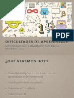 Bases Neurologicas de Los Trastornos de Aprendizaje Matematico