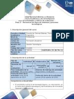 Guía de actividades y rúbrica de evaluación – Paso 3  - Reconocer los tipos de sistemas y procesos tecnológicos.pdf