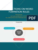 Restrictions on Word Formation Rule