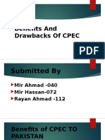 Benefits and Drawbacks of CPEC