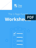 The 1 Page Funnel Worksheets