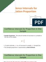Confidence Intervals for Population Proportion