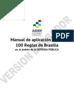 Proyecto de Manual de Aplicación de Las 100 Reglas de Brasilia