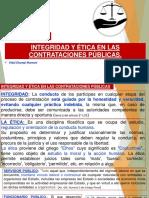 INTEGRIDAD Y ÉTICA EN LAS CONTRATACIONES PÚBLICAS.