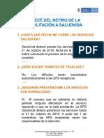 Abecé de la liquidación de EPS Saludvida