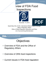 Overview of FDA Food Inspections