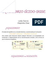 Equilibrio quimico acido-base y buffer