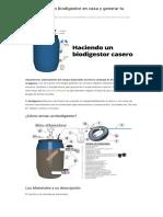 Cómo Hacer Un Biodigestor en Casa y Generar Tu Propio Gas - Zona Eco
