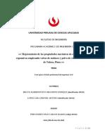 Estructura de Informe de Tesis Avance