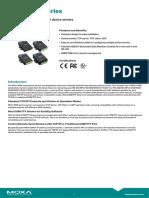 Moxa Nport 5200 Series Datasheet v1.2