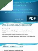 Robinsons Human Asset Multiplier Method &Watsons Return on Effort Employed Method