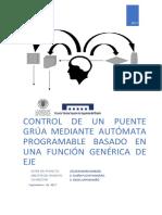 ROMERO - Control de Un Puente Grúa Mediante Autómata Programable Basado en Una Función Genérica d...
