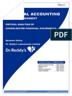 Analysis of Financial Reporting by Dr. Reddy's Laboratories Ltd.