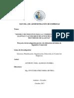 Modelo de Negocios Para La Comercialización de Llantas - Autor Anthony Joel Alemán Guerra