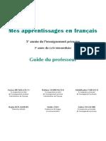 Dalil 5primaire Fr Mes Apprentissages