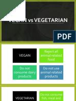 Vegans vs Vegetarians