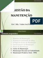 Manutenção - Aula 06 - Custos de Manutenção