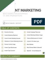 Content Marketing Benchmark Report