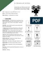 The Vocabulary of Film