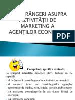 Constrangeri Asupra Activitatilor de Marketing a Agentilor Economici