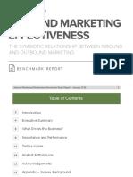 Inbound Marketing Effectiveness Benchmark Report