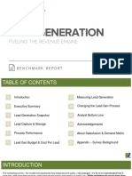 Lead Generation Benchmark Report