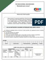 avaliação bimestral  português