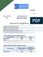 Estadisticas Valle Cauca 2018