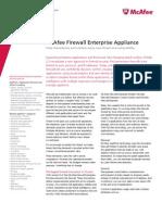 McAfee Enterprise Firewall Sidewinder) Datasheet
