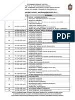 Cronograma de Actividades Academicas 2019-2