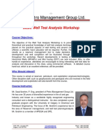 Basic Well Test Analysis Workshop