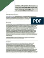 Factores Determinantes en La Gestión de Recursos Humanos en Empresas de Servicios Qu