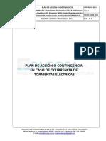 Plan de Acción o Contingencia Tormentas Electricas