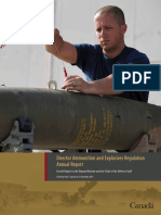 Director Ammunition and Explosives Regulation Annual Report