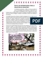 Campaña Por El Dia Internacional Para La Reduccion de Desastres