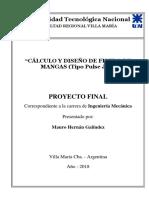 Calculo y Diseño de Filtro de Mangas Tipo Pulse Jet_GALINDEZ