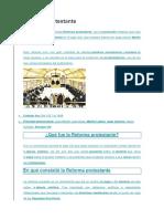 La Reforma Protestante, Quien La Promovio, En Que Consistio