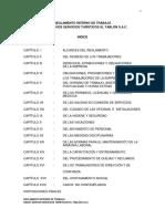 Reglamento Interno de Trabajo Propuesto