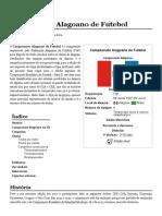 Campeonato Alagoano de Futebol – Wikipédia, A Enciclopédia Livre