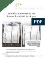 El Éxito de Plantaciones de Alta Densidad Depende Del Tipo de Poda – Good Fruit Grower en Español