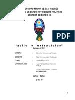 Asilo Extradicion Derecho Bolivia