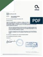 Cartas empresas de telecomunicaciones