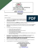 CASE Application Form, AY 2005-2006