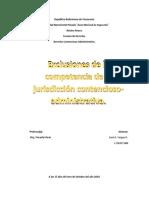 Exclusiones de la competencia de los organos de la jurisdiccion contencioso administrativo