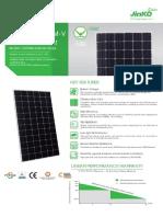 Ficha técnica Panel Solar Jinko 370Wp