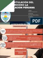 Trabajo Completo La Postulación Del Proceso en La Legislacion Peruana