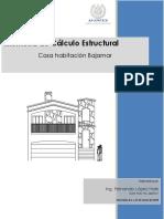 CALCULO ESTRUCTURAL RESIDENCIAL